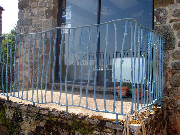 ferronnerie d 39 art rambarde en acier forg et peint atelier369. Black Bedroom Furniture Sets. Home Design Ideas